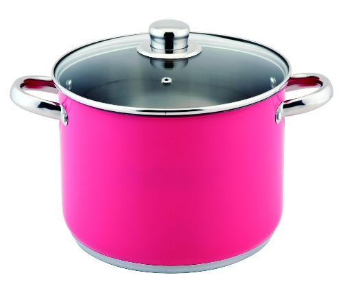 Colourful Stockpot in Bright Pink