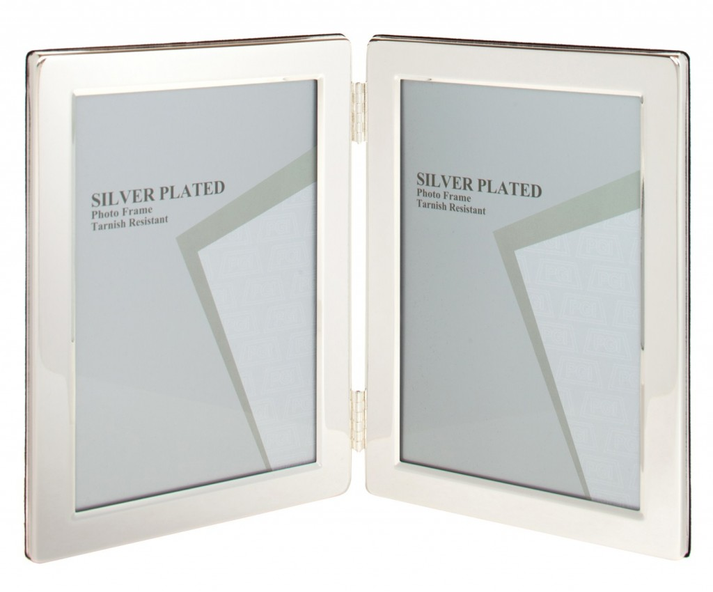 Double Sided Silver Plated Photo Frame